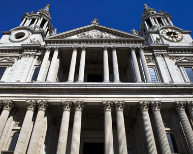 Heart of stone: St Paul's Cathedral in London is built from the much sought-after Portland Stone which is mined from the isle of the same name (credit: Chris Dorney/123RF)