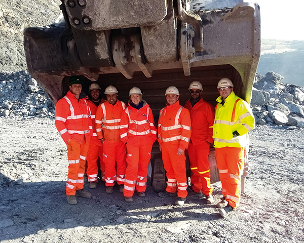 Derby students at a mine in Neath Port Talbot. Photograph Derby University