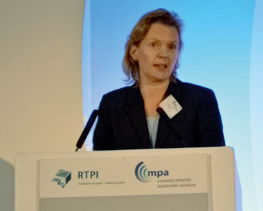 Louise Barr spoke about sustainable minerals (credit: MPA)