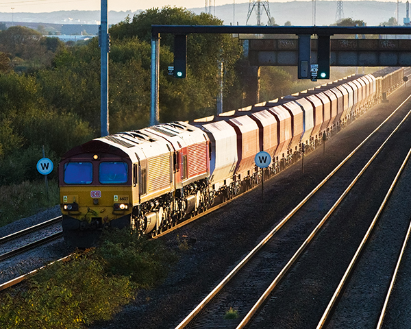 The Cemex jumbo train in Cardiff. Photo:Cemex