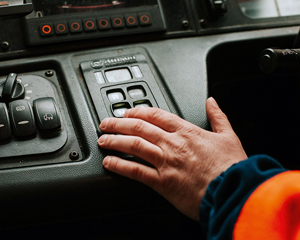 On-board automation improves safety by keeping drivers in trucks at all times. Photograph: OCC