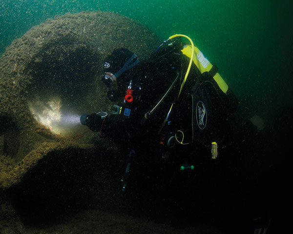 Divers searched for missing shipwrecks. Photo: Maritime Archaeology Trust