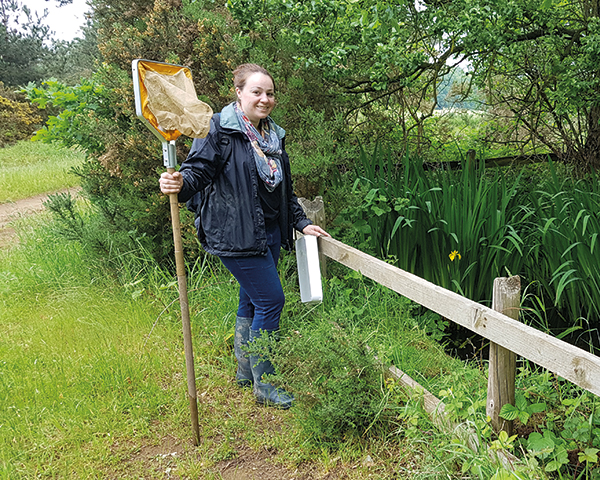 Indea Chawk is the UK's first newt officer. Photo: Nature Space