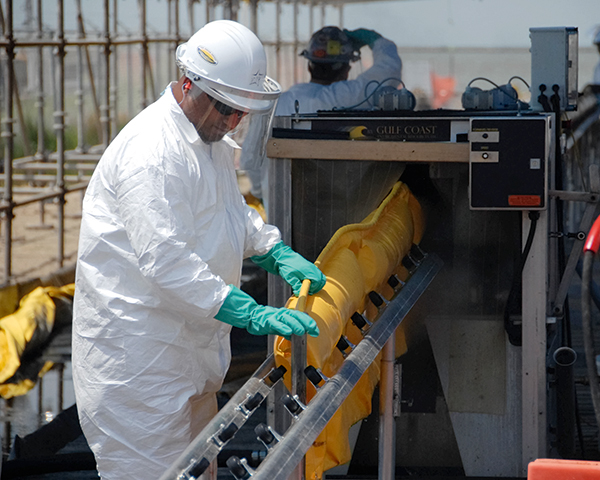 Wearing appropriate protective gear and being aware of noise levels and their safety periods is crucial (photograph: National Institute for Occupational Safety and Health)