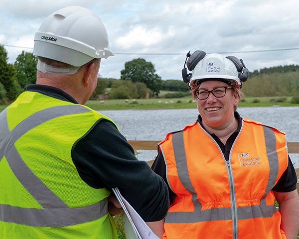Lisa Pinney on a site visit for the Coal Authority. Photograph: Coal Authority