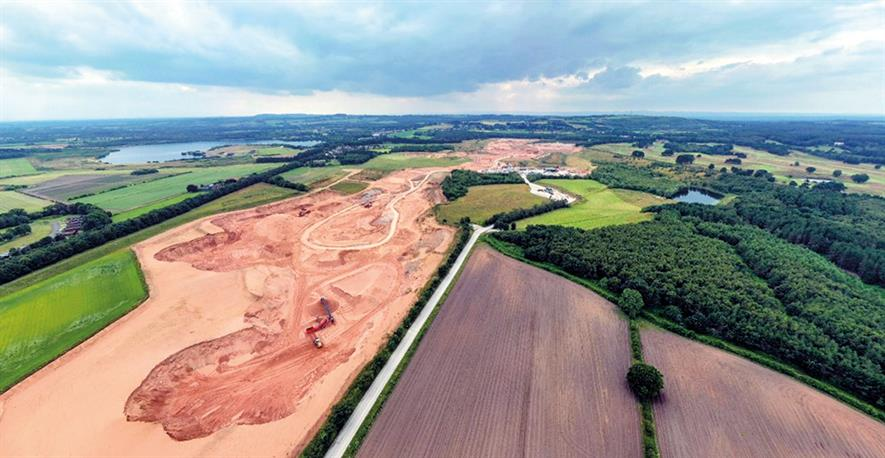 Tarmac Crown Farm quarry in Cheshire served as a test site for a series of pilots using drones for habitat mapping and protected-species survey work. Photograph: Atkins