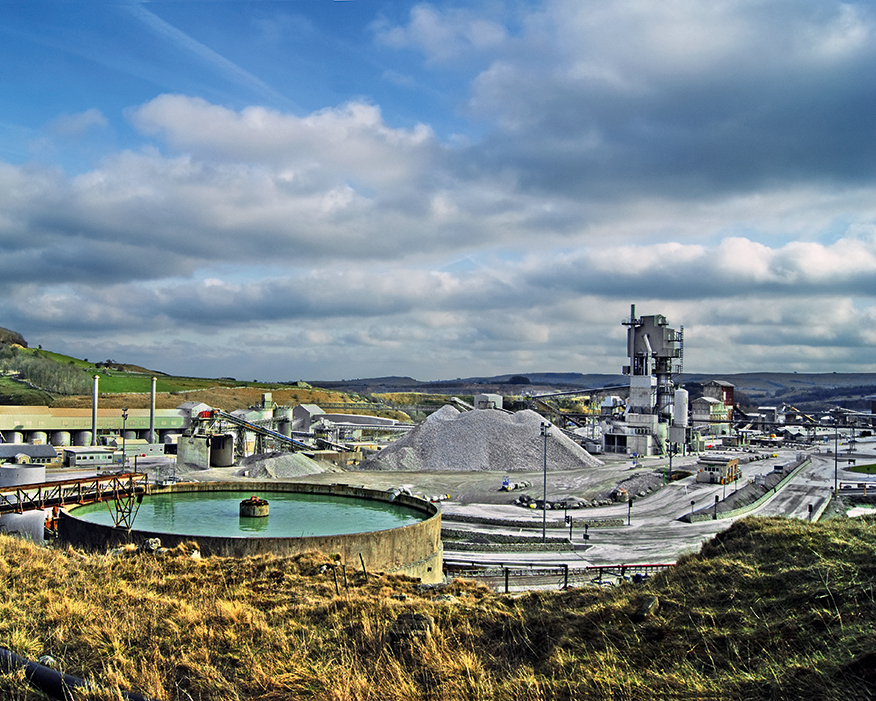 Tunstead cement plant in Derbyshire has implemented biodiversity management plans. Photograph: Simon Harrod/Flickr