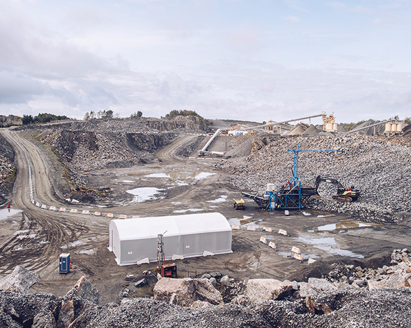 The Vikan Kross quarry near Gothenburg, Sweden, could become a blueprint for the future. Photo: Skanska