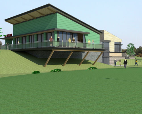 The new facilities will be set among landscaped grounds in keeping with the local countryside and will provide a diverse range of habitats to benefit nature conservation. Credit: SLR Consulting