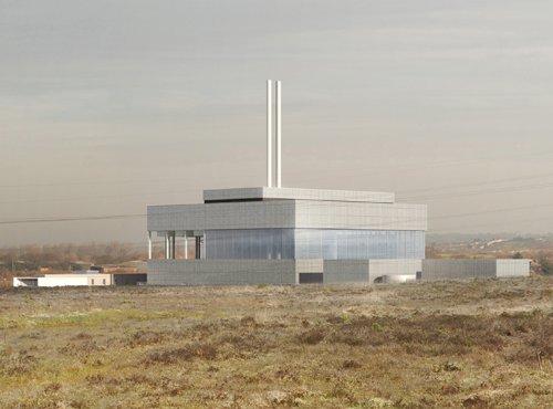 Artist's impression of Beddington energy recovery facility