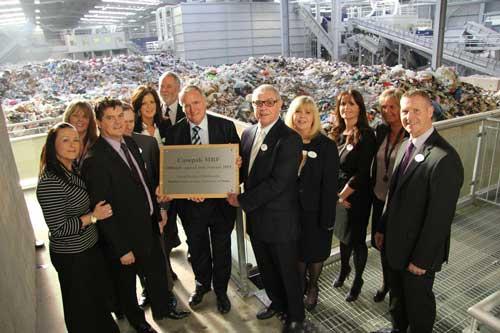 Lord Taylor opens Casepak's new MRF facility (Image credit: Quantum PR)