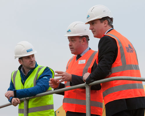 David Cameron visited Sheehan's construction and demolition waste recycling plant in Oxford. Credit: Sheehan