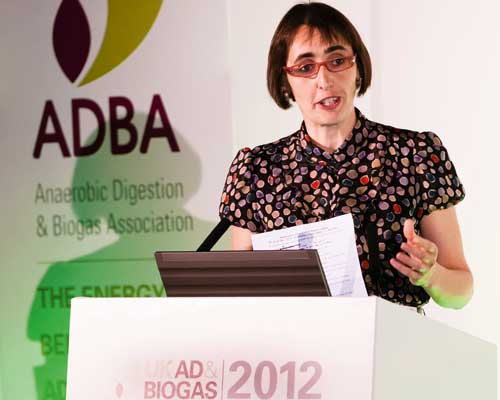 Charlotte Morton speaking at ADBA's conference. Credit: ADBA