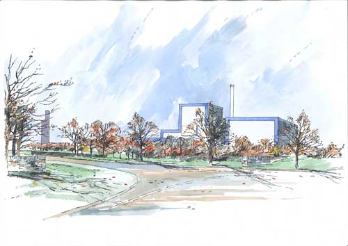 Port Talbot: visual impact considered acceptable (Image credit: White Young Green Planning)