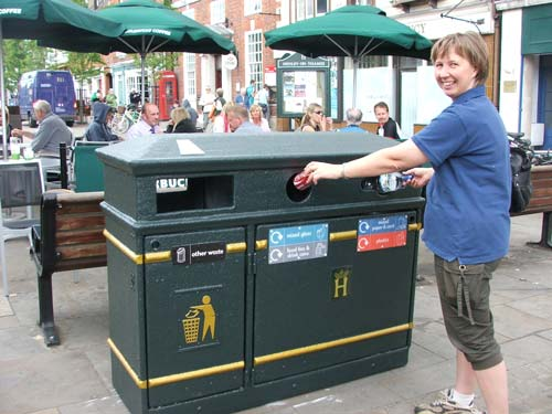 Recycling: new bins installed in seven town centres (Image credit: every can counts)