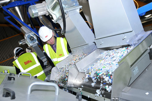 Technology: plastics that once would have ended up in landfill can now be recycled at modern plants (Image credit: Biffa)