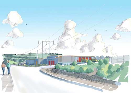 Galashiels: residual waste treatment facility would provide electricity for around 3,000 homes (Image credit: New Earth Solutions)
