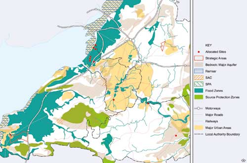 West of England: administrative boundaries for unitary authorities do not necessarily represent the spatial factors affecting waste management (Image credit: ERM)