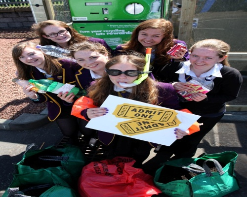 Marr pupils win recycling rewards. Picture Zero Waste Scotland