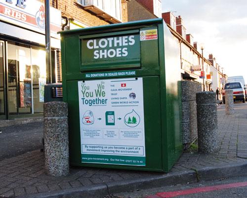 Clothes bank. Credit: Adrian Short