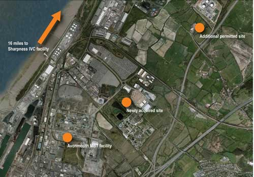 Avonmouth: low-carbon renewable energy plant will help to enhance environmental sustainability (Image credit: New Earth Group)