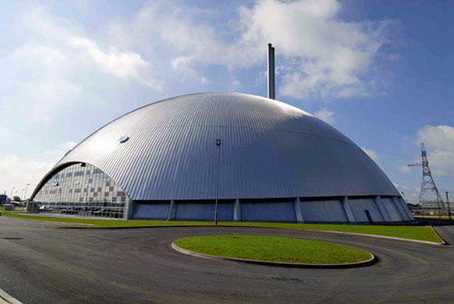 Marchwood Dome: while conventional in layout the dome like structure makes this plant remarkable (Image credit: Veolia Environmental Services UK PLC)