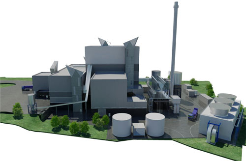 Energy from waste: the Glenavy plant is expected to generate a third of the non-wind renewable energy for Northern Ireland by 2012 (Image credit: Graham Bolton Planning Partnership)