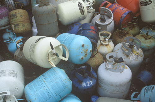 Hazardous waste: one of the first sectors targeted (Image credit: Waste Watch)