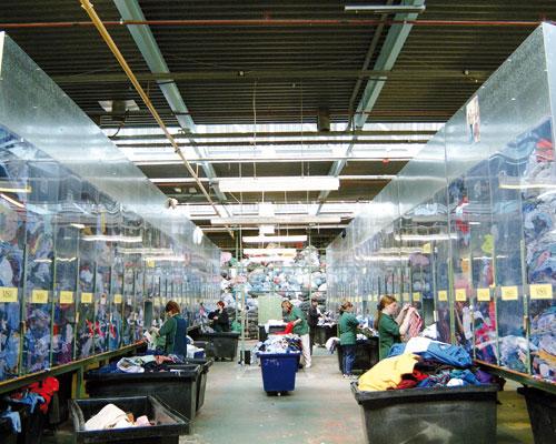 Clothing sorting and recycling centre. Credit: Nathan's wastesavers