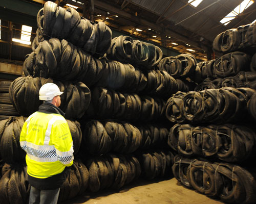 Illegal waste tyres. Credit: Environment Agency