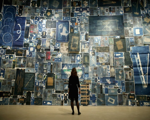 Discarded materials form the heart of the art show. Picture: Chris Jackson/Getty Images