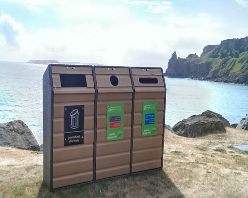 Beach front bins at Haven Holiday Park. Picture: Welsh Assembly