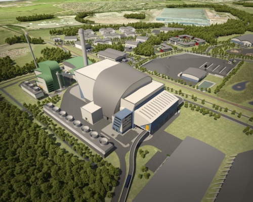 Artist's impression of Covanta's proposed facility at Ince Park. Picture: Covanta