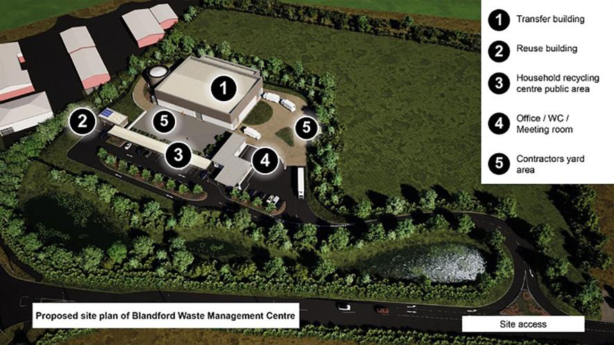 Dorset Council proposes to build a new split-level HWRC and access road