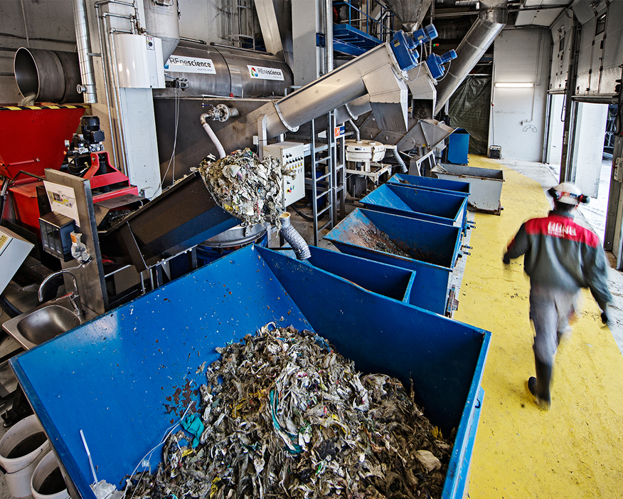The plant can treat 15 tonnes of household waste per hour. Picture: Dong Energy