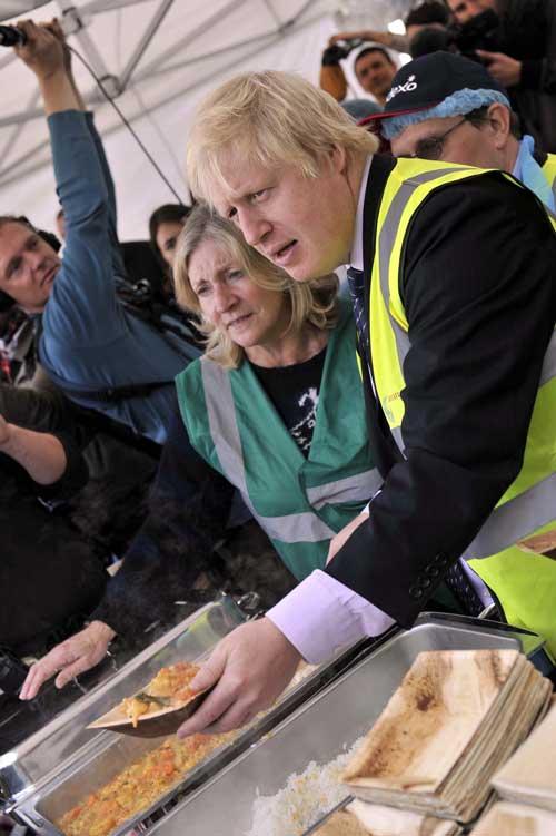 London Mayor Boris Johnson supports food waste campaign