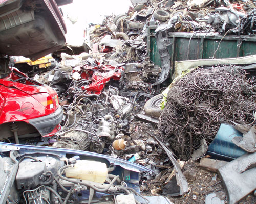 Vehicles account for 18% of illegal waste deposits. Credit: Environment Agency