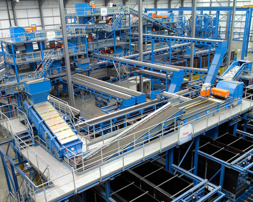 A state-of-the-art plant in Lincolnshire will provide Coca-Cola with recycled plastic for its bottles. Credit: Eco Plastics