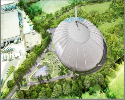 Artist's aerial view of the plant. Picture: Veolia
