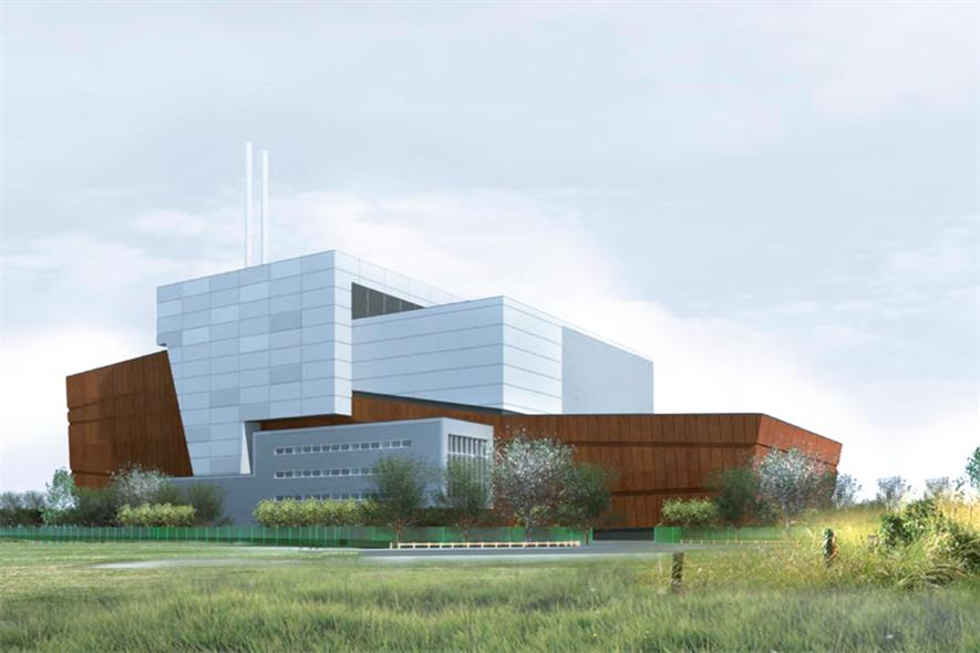 The planned Heysham Gateway facility will export about 30MW of electricity to the national grid. Image: Veolia