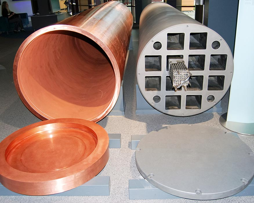KBS-3: Swedish capsule for spent nuclear fule (credit: Kallerna)