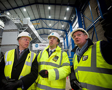 From left GIB chief executive Shaun Kingsbury, MP Matthew Hancock and Foresight's Nigel Aitchison in Birmingham. Picture: GIB