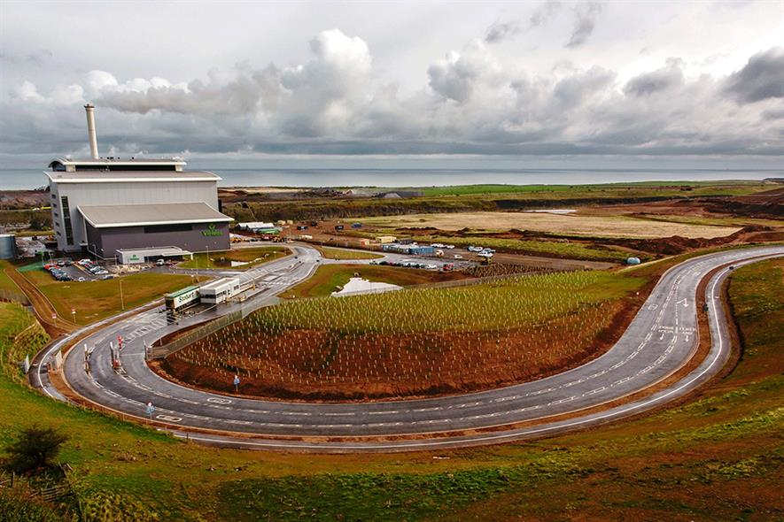 Viridor's Dunbar facility will transform landfill gas into transport fuel. Photograph: Viridor
