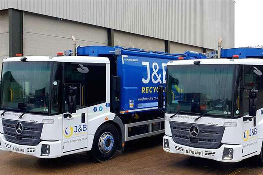 Hartlepool-based waste firm J&B specialises in the receipt, haulage and processing of co-mingled recyclables from a number of councils