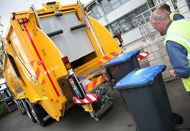 Waste collection, image copyright Scottish Borders Council