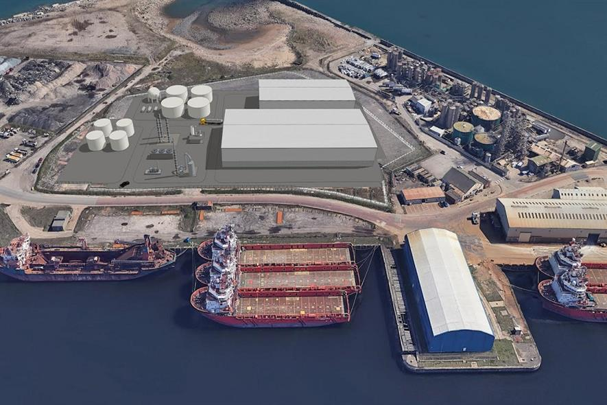 The Port of Sunderland tyre recycling plant is expected to be fully operational in the second half of 2022