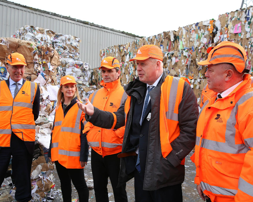 MP Boris Johnson spoke about the UK Packaging Waste Regulations. Picture: DS Smith