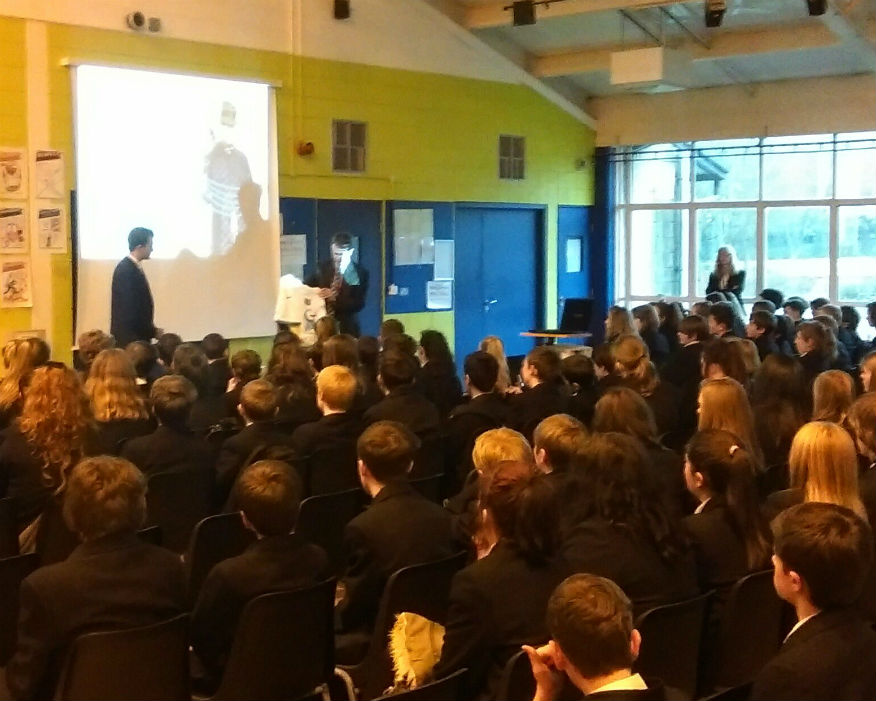 Buxton Community School children learn about recycling. Picture: Recoup