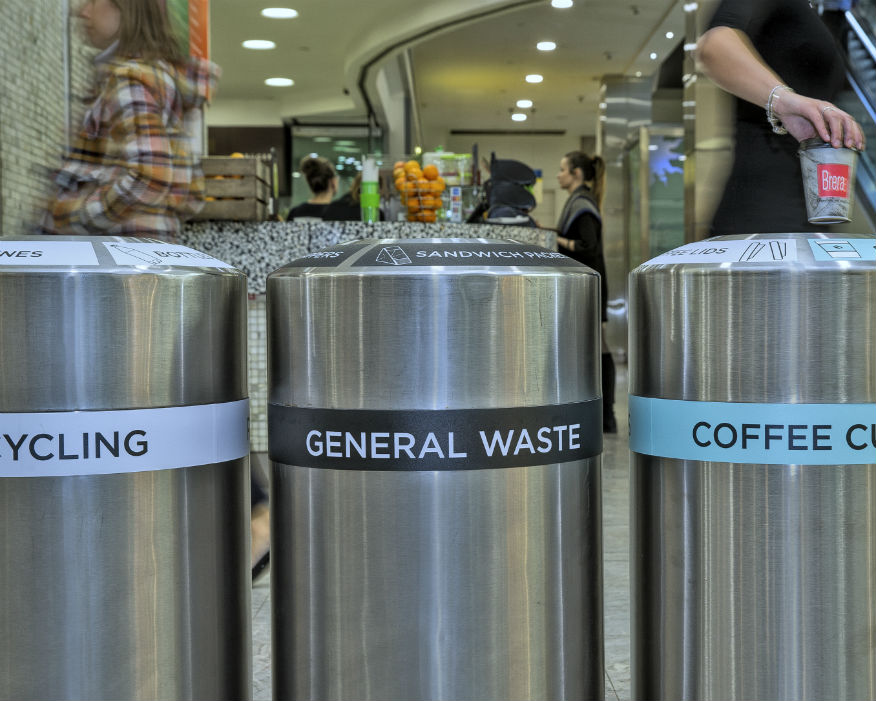 Cups from 300 shops, bars and restaurants will be recycled. Picture: Canary Wharf Estate