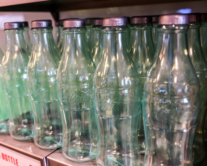 The deposit return scheme (DRS) is for single-use plastic, glass or metal. Picture: Coca-Cola